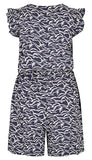 Weird Fish Womens 'Suzanne' Playsuit - Dark Navy / Bird Print