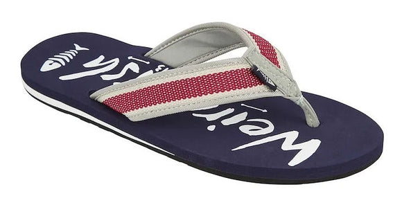 Weird Fish Mens 'Waterford' Flip Flops - Navy