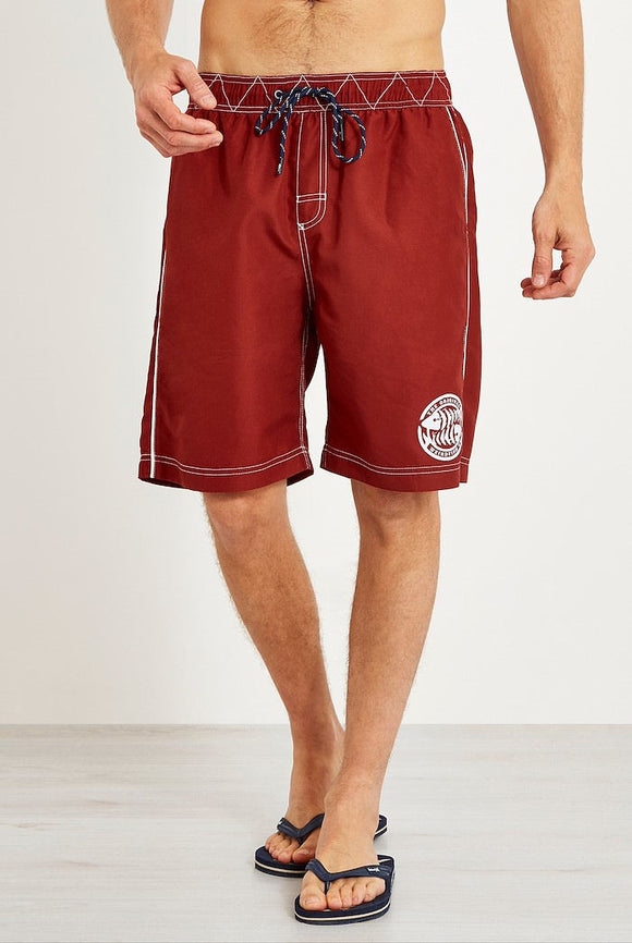 Weird Fish Mens 'Cork' Board Shorts - Retro Red
