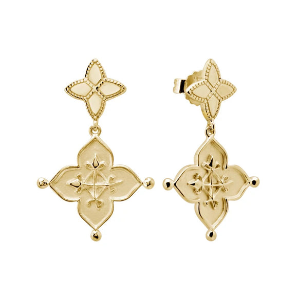 Love Earrings 18KT Yellow Gold Plate