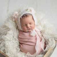 Newborn Teddy Bonnet Pink