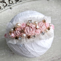 Pink & Gold Starry Headband