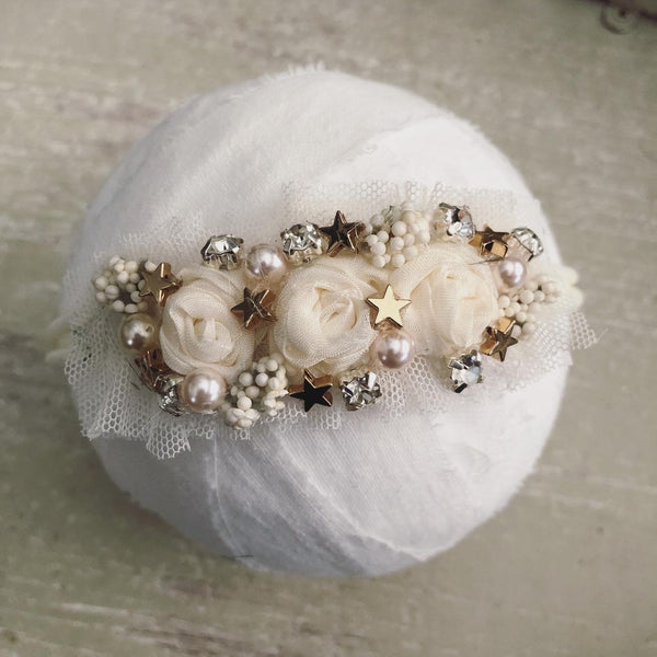 Ivory & Gold Starry Headband