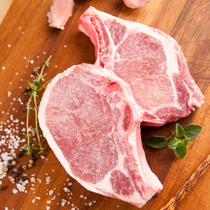 Frozen Pork Chops, 2 pack, 8 oz chops