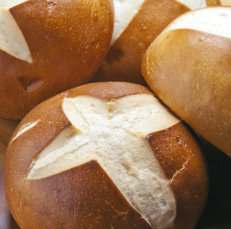 Load image into Gallery viewer, Pretzel Buns, 8 pk