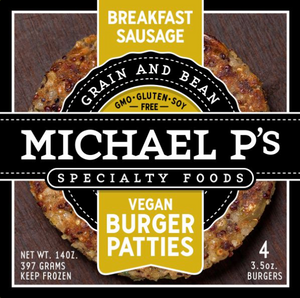 Breakfast Sausage Vegan Burger Patties, 4pk