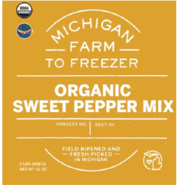 Load image into Gallery viewer, Frozen Organic Sweet Pepper Mix, 2lbs