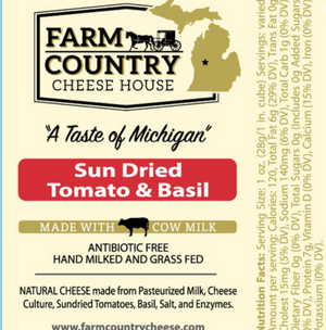 Sun Dried Tomato & Basil Cheese, 8 oz