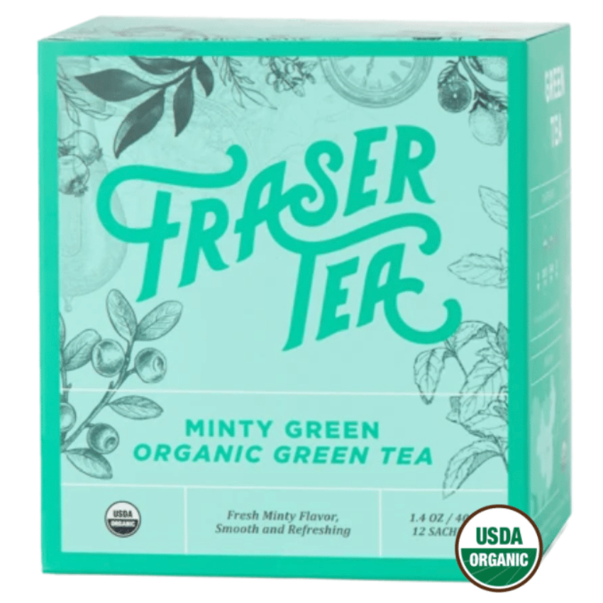 Load image into Gallery viewer, Organic Minty Green Tea, 12 sachets