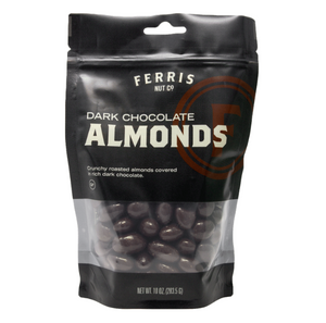 Dark Chocolate Almonds, 10oz