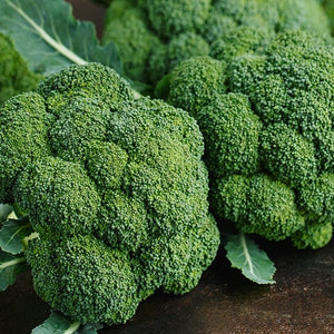 Broccoli, 2 small bunched heads, 1-1/2 lbs