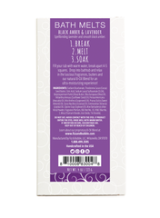 Black Amber & Lavender Candy Bar Bath Melt from Fizz & Bubble