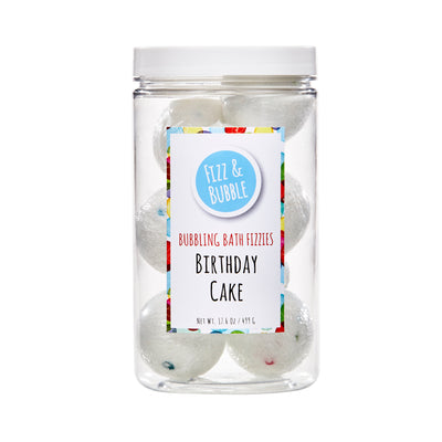 Birthday Cake Bubbling Bath Fizzies from Fizz & Bubble
