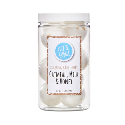 Oatmeal, Milk & Honey Bubbling Bath Fizzies from Fizz & Bubble