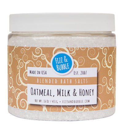 Oatmeal, Milk & Honey Bath Salts from Fizz & Bubble
