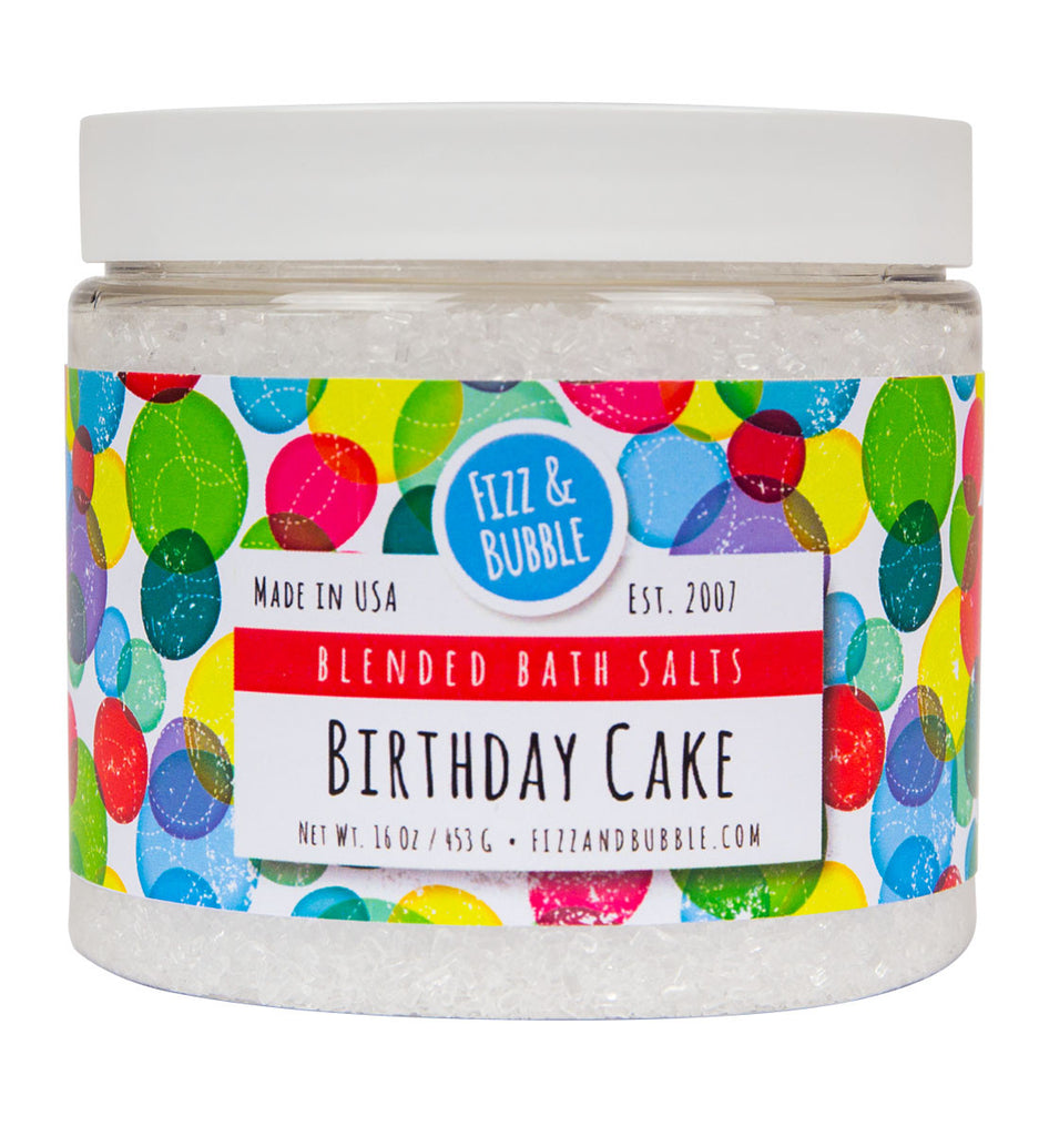 Birthday Cake Bath Salts from Fizz & Bubble