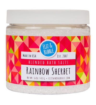 Rainbow Sherbet Bath Salts from Fizz & Bubble