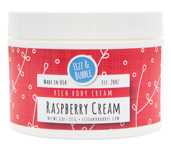 Raspberry Cream Body Cream from Fizz & Bubble