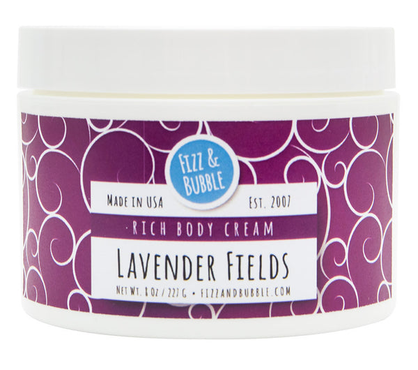Lavender Fields Body Cream from Fizz & Bubble