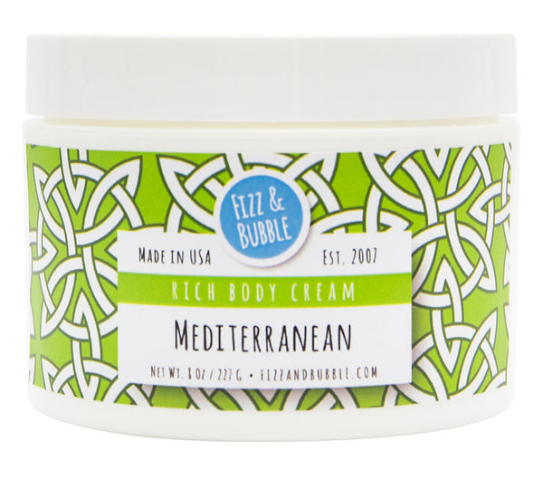 Mediterranean Body Cream from Fizz & Bubble