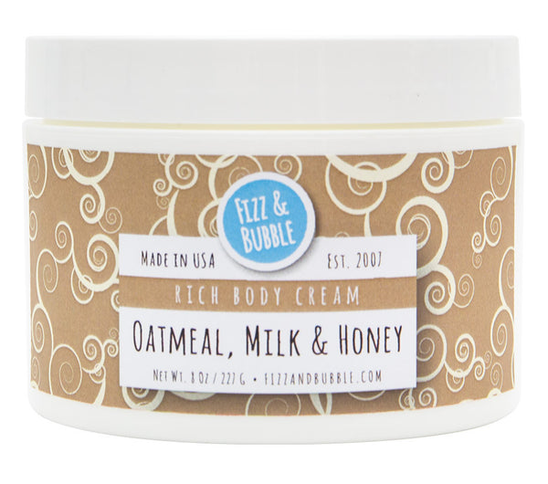Oatmeal, Milk & Honey Body Cream from Fizz & Bubble