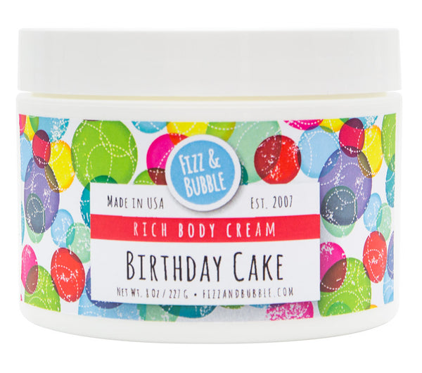 Birthday Cake Body Cream from Fizz & Bubble