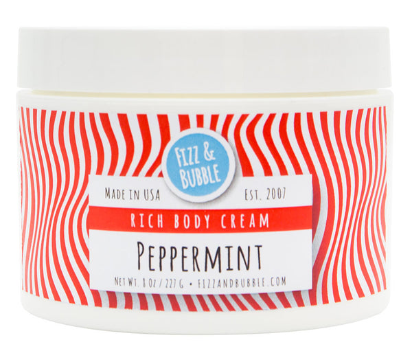 Peppermint Body Cream from FIzz & Bubble
