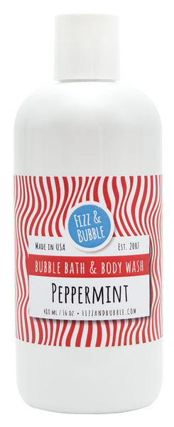 Peppermint Bubble Bath & Body Wash from Fizz & Bubble