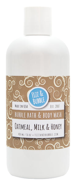 Oatmeal, Milk & Honey Bubble Bath & Body Wash from Fizz & Bubble