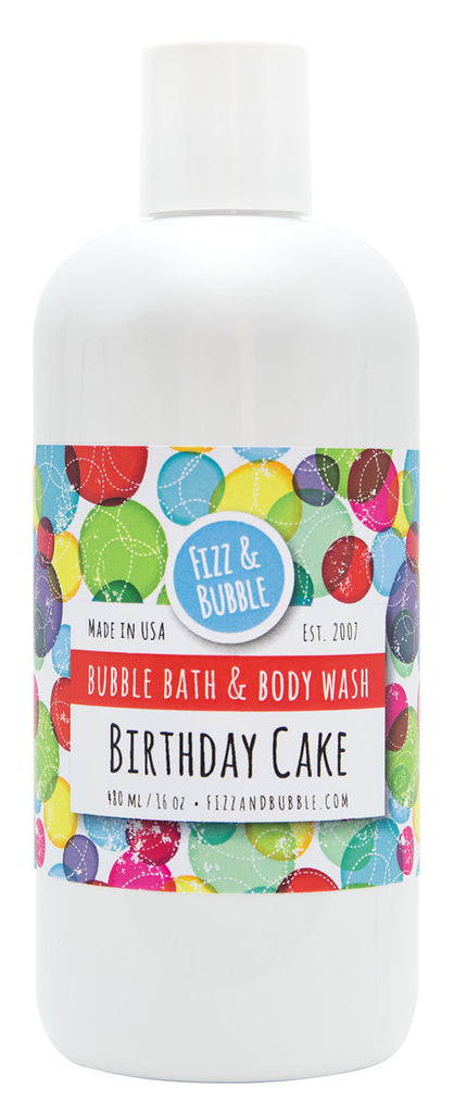 Birthday Cake Bubble Bath & Body Wash from Fizz & Bubble