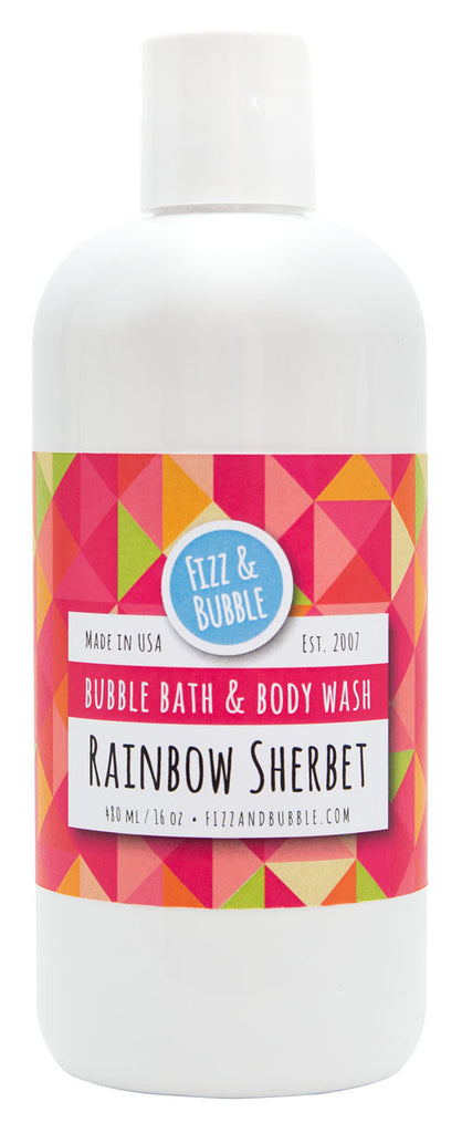 Rainbow Sherbet Bubble Bath & Body Wash from Fizz & Bubble
