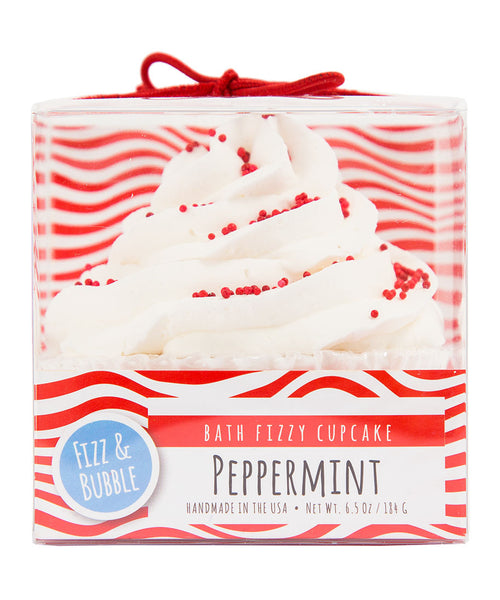 Peppermint Bath Fizzy Cupcake