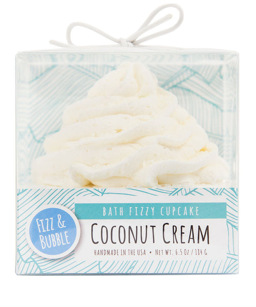 Coconut Cream Bath Fizzy Cupcake