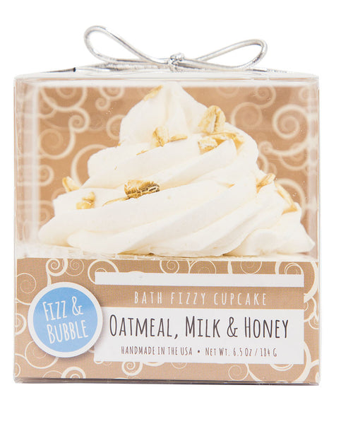 Oatmeal, Milk & Honey Bath Fizzy Cupcake