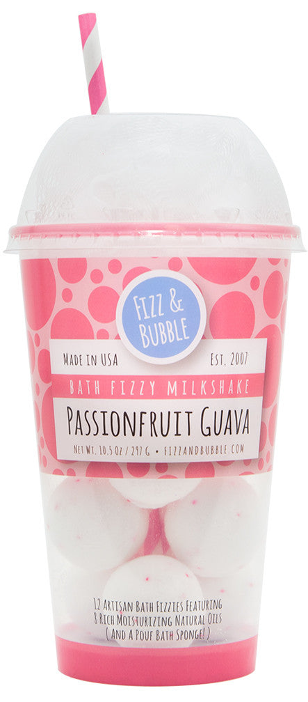 Passionfruit Guava Bath Fizzy Milkshake from Fizz & Bubble