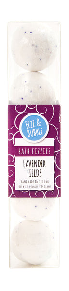 Lavender Fields Mini Bath Fizzies from Fizz & Bubble