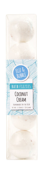 Coconut Cream Mini Bath Fizzies from Fizz & Bubble
