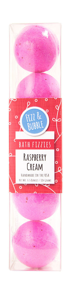 Raspberry Cream Mini Bath Fizzies from Fizz & Bubble