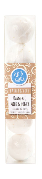 Oatmeal, Milk & Honey Mini Bath Fizzies from Fizz & Bubble