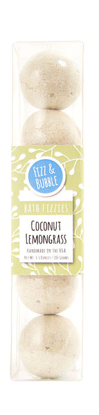 Coconut Lemongrass Mini Bath Fizzies from Fizz & Bubble