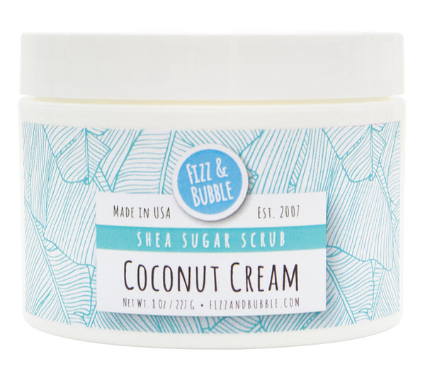 Coconut Cream Sugar Scrub from Fizz & Bubble