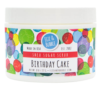 Birthday Cake Sugar Scrub from Fizz & Bubble