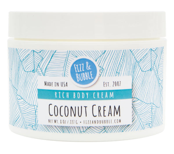 Coconut Cream Body Cream from Fizz & Bubble