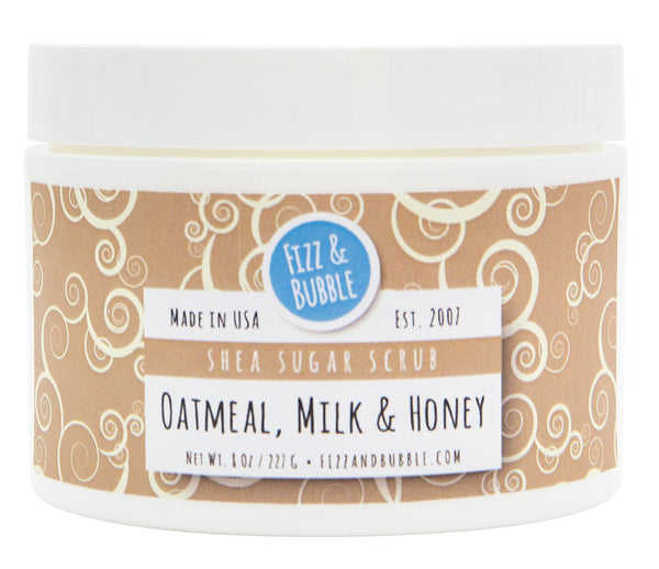 Oatmeal, Milk & Honey Sugar Scrub from Fizz & Bubble