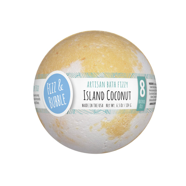 Island Coconut Bath Fizzy from Fizz & Bubble