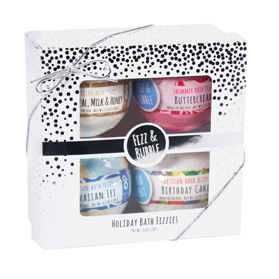 Silver Snow Holiday Bath Fizzies from Fizz & Bubble