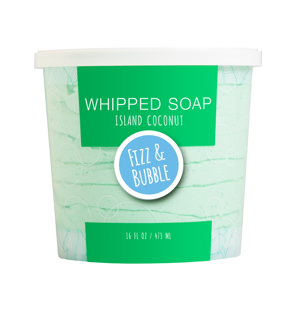Island Coconut Whipped Soap from Fizz & Bubble