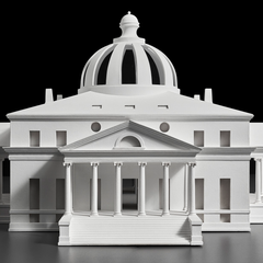 Model of Jefferson's design for the President's House competition