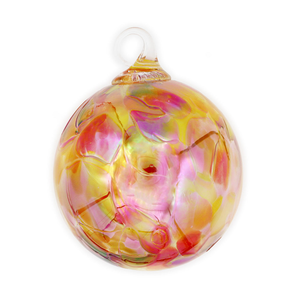 Sunset Beauty Orchid Blown Glass Ornament
