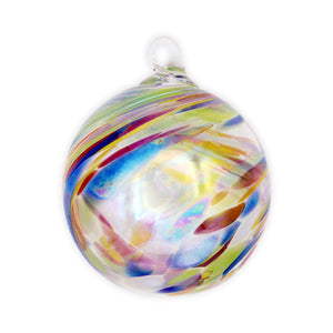 Clown Feather Blown Glass Ornament